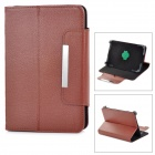 "Lychee Grain Style 360 Degree Rotation PU Leather Case for 7"" Tablet PC - Brown"