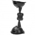 Dual Suction Cup 720 Degree Rotatable Plastic Stand Holder Support - Black