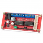4WD DC Power Supply Motor Driver Module - Red + Blue (Works with Arduino Official Boards)
