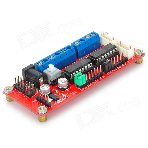 4wd Dc Power Supply Motor Driver Module Red Blue
