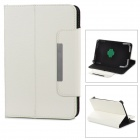 "Lychee Grain Style 360 Degree Rotation PU Leather Case for 7"" Tablet PC - White"