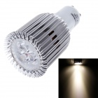 Ziyu ZY-A045-06 GU10 6W 540lm 3000K 3-LED Warm White Light Bulb Lamp - Silber + Weiß (85 ~ 265V)