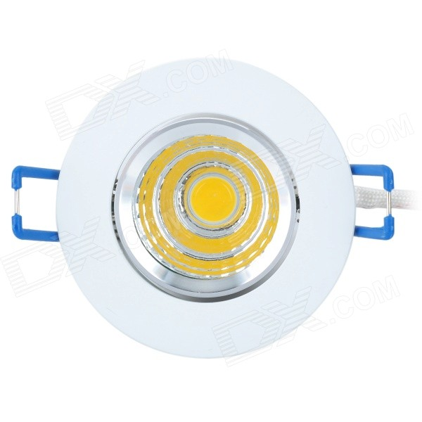 ZY-COB05-TH05 5W 450lm 3000K COB LED Warm White Light Ceiling Lamp - Silver + White + Blue (85~265V) lexing lx r7s 2 5w 410lm 7000k 12 5730 smd white light project lamp beige silver ac 85 265v