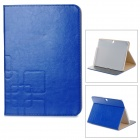 Stylish Protective PU Leather Case w/ Card Holder Slots for Samsung Galaxy Tab 3 P5200 - Blue