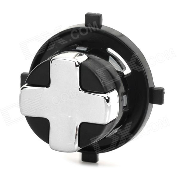 Replacement Rotating Transforming D-Pad Button for XBOX 360 Slim - Black + Silver