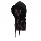 Qinglonglin vv-003 Windproof Warm Fleece Hat Face Mask - Black
