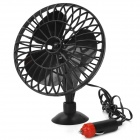 "80241 4"" 3 Blades 12V Car Cigarette Charger Powered Mini Cooling Fan - Black"