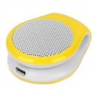 KP100 Bluetooth v3.0 Stereo Speaker w/ Microphone Supports Hands-Free - Yellow + White
