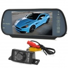 Buy Universal 7 inch Rearview Mirror MP5 + Wired IR Night Vision CMOS 1030 Camera Set Car - Black
