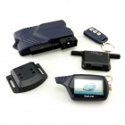 "B9 Russian Two Way Car Alarm System with 2.0"" LCD Remote Controller - Black"
