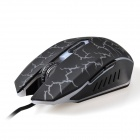 K-Snake X6 Luminous USB 2.0 Wired 2000dpi Gaming Mouse - Black + Grey White (138cm-Cable)