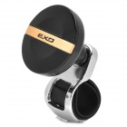 EXO Car Plastic + Steel Power Steering Wheel Ball - Black + Silver