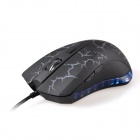 K-Snake X7 Luminous USB 2.0 Wired 2000dpi Gaming Mouse - Black + Grey White + Translucent Blue