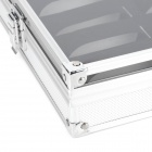 12 Grid Aluminum Alloy Watch Display Cosmetic Storage Case - Silver