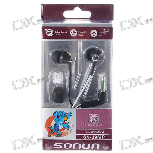 SONUN SN-J9MP Noise Isolation In-Ear Stereo Earphone (3.5mm Jack/119.2cm Cable)