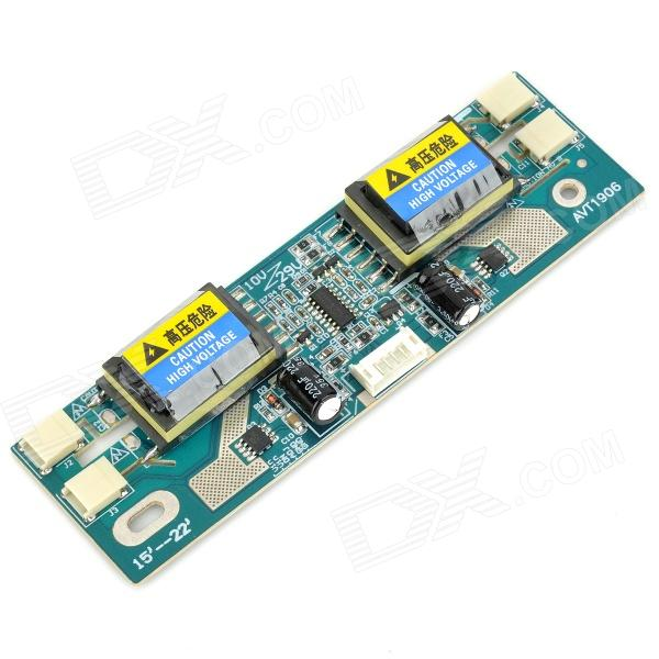 V56 10~29V Repairing High Voltage PCB Board for 15~22 LCD Display - Blue + Black + Yellow saq high voltage board w cable for tube of 10 22 lcd monitor green multicolored