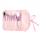 8-in-1 Kosmetik Make-up Pinsel Set - Weiß + Lila