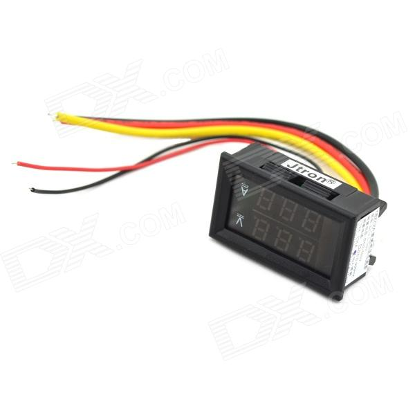 0 28 Quot Led 3 Digital Dual Display Dc Ammeter Voltmeter