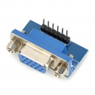 VGA to Red / Green / Blue / HSYNC / VSYNC / GND Adapter - Blue + Silver
