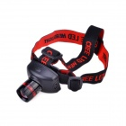 TK27 Cree XP-E Q5 100lm 3-Mode Zooming Headlight w/ Adjusted Headband - Black + Red (3 x AAA)
