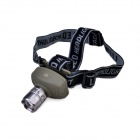 TK17 Cree XP-E Q5 100lm 3-Mode Zooming Headlight w/ Adjusted Headband - Army Green + Grey (3 x AAA)