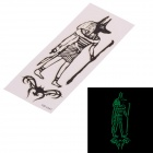 YM-L041 Temporary Fluorescence Tattoo Sticker for Men - Black