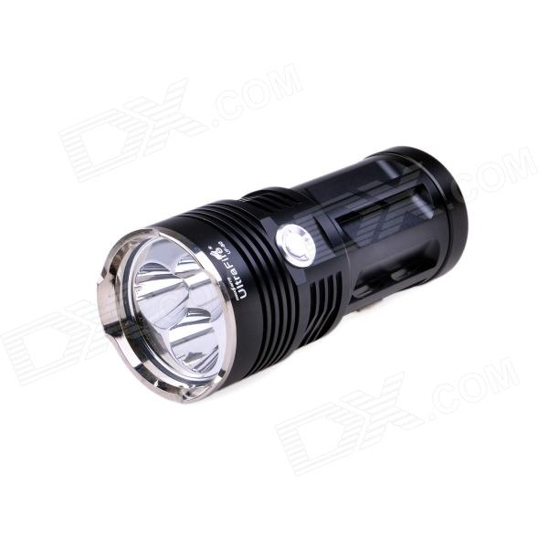 UltraFire UF-80 3-Mode 2050lm Cool White Flashlight w/ 3 x Cree XM-L U2, Strap - Black (4 x 18650) ultrafire 600lm 5 mode white light zooming flashlight black 1 x 18650