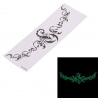 YM-G060 Fluorescence Scorpion Pattern Fashionable Temporary Tattoo Paper Sticker - Black