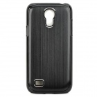 Stylish Protective Aluminum Alloy Back Case for Samsung Galaxy S4 Mini i9190 - Black