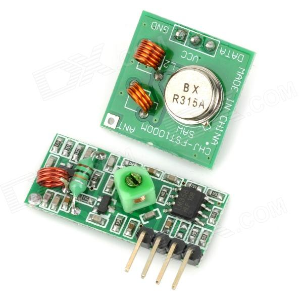 315MHz RF Transmitter Receiver Link Kit - Green