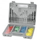 PC-300 Multifunction Steel + Plastic Twist  / Masonry / Wood Drill Bits Tool Set - Multicolored