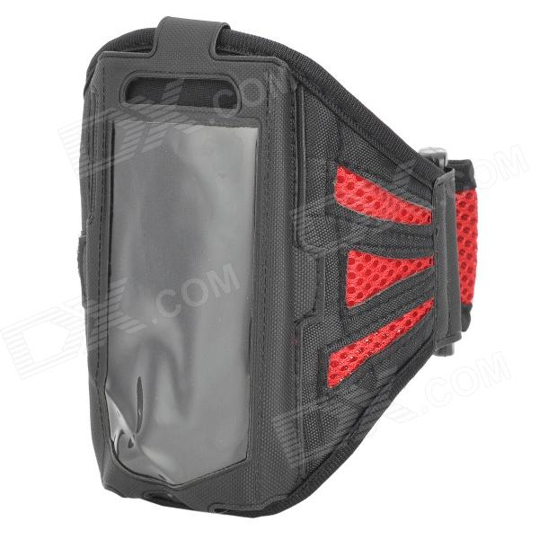 Sports Mesh Arm Band for Samsung Galaxy  Ace 3 / S7272 / S7275 / S7270 - Red + Black sunshine sports velcro protective arm bag for samsung galaxy s5 i9600 red black
