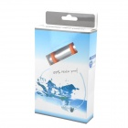 FS-1 Waterproof USB Rechargeable Swimming MP3 Player w/ FM - Silver + White (8GB)
