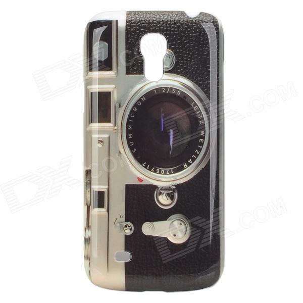 Retro Camera Style Protective PC Back Case for Samsung Galaxy S4 Mini i9190 - Black + Grey + Whtie replacement back camera circle lens for samsung galaxy s5 g900 black