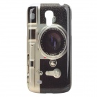 Retro Camera Style Protective PC Back Case for Samsung Galaxy S4 Mini i9190 - Black + Grey + Whtie