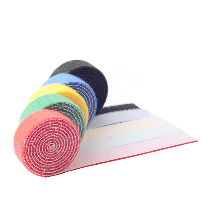 KX 55 Colorful Nylon Velcro Cable Ties Magic Tape - Multicolored (5 PCS)