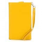 Multifunction Protective PU Case / Wallet for Samsung i9200 / N7100 / i9082 / i9152 + More - Yellow