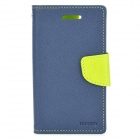 Protective Flip-open PU Leather Case for BlackBerry Z10 - Green + Sapphire Blue