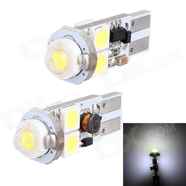 T10 3W 148lm 5 x SMD 5050 LED White Light Canbus Car Turn Signal Light, Corner Light, Parking Lamp car led lights t10 194 w5w dc 12v canbus 6smd 5050 silicon shell led lights bulb no error led parking fog light auto car styling
