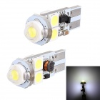 T10 3W 148lm 5 x SMD 5050 LED White Light Canbus Car Turn Signal Light, Corner Light, Parking Lamp