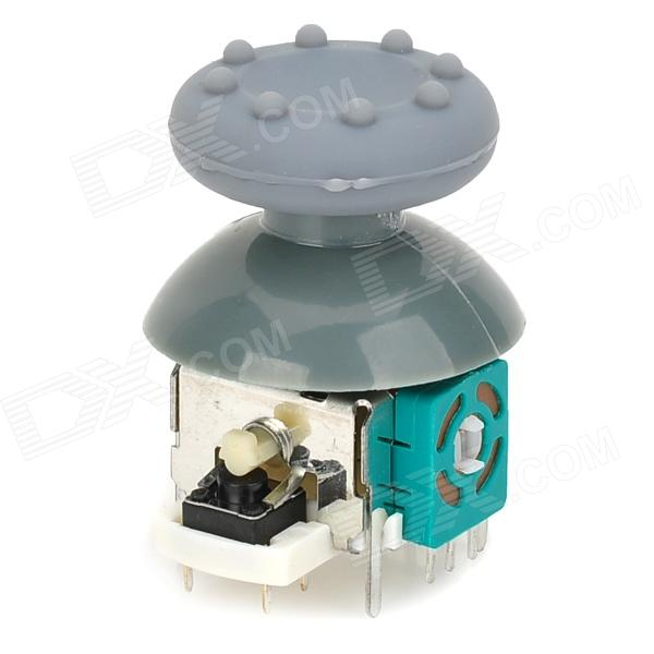 Replacement 3D Vibration Joystick w/ Cap / Anti-Slip Cover for XBOX 360 Wireless Controller - Grey