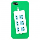 Stylish Extension Socket Decorative Protective Plastic Back Case for Iphone 5 - Green + Blue + White