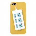 Stylish Extension Socket Decorative Protective Plastic Back Case for Iphone 5 - Yellow + Blue