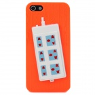 Stylish Extension Socket Decorative Protective Plastic Back Case for Iphone 5 - Orange + Blue