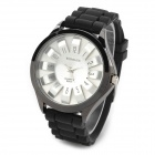 Woman's Fashionable Sunflower Style Dial Quartz Analog Wrist Watch - Black (1 x 377)