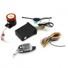 "C08 Two Way Auto Security Motorcycle Alarm System with 1.3"" LCD Remote Controller - Black"