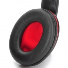 OVLENG X13 3.5mm Jack Headband Stereo Headphone w/ Microphone - Black + Red
