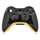 Replacement PVC Full Housing Case Shell Set for Xbox 360 Wireless Controller - Black + Golden