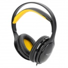 OVLENG S222 3.5mm Jack Headband Stereo Headphone w/ Microphone - Black + Yellow