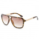 Woman's Fashionable Sexy Leopard Pattern PVC Frame Resin Lens UV400 Sunglasses - Brown + Golden